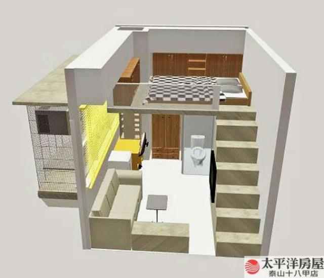 泰山買房賣屋晶贊夾層大套房含平車,新北市泰山區明志路三段